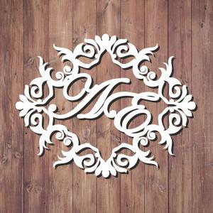 Свадебная монограмма из букв - Вариант 3