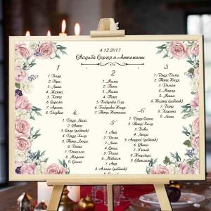 розы - План рассадки гостей