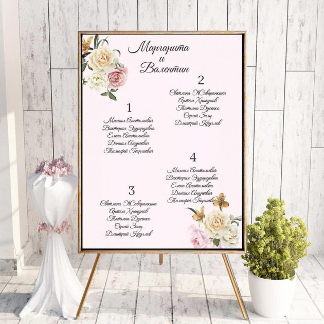 цветы - План рассадки гостей