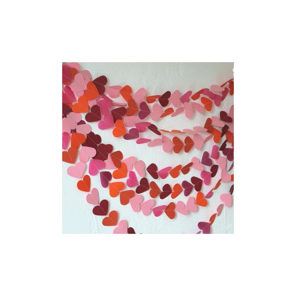 """Гирлянда-сердечки """"Грейпфрут"""" (5 метров)"""