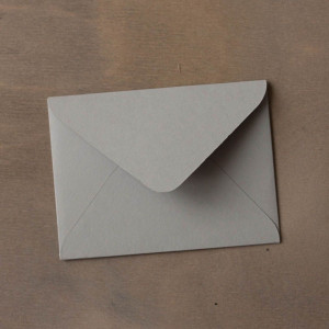 Конверт для приглашения, серый