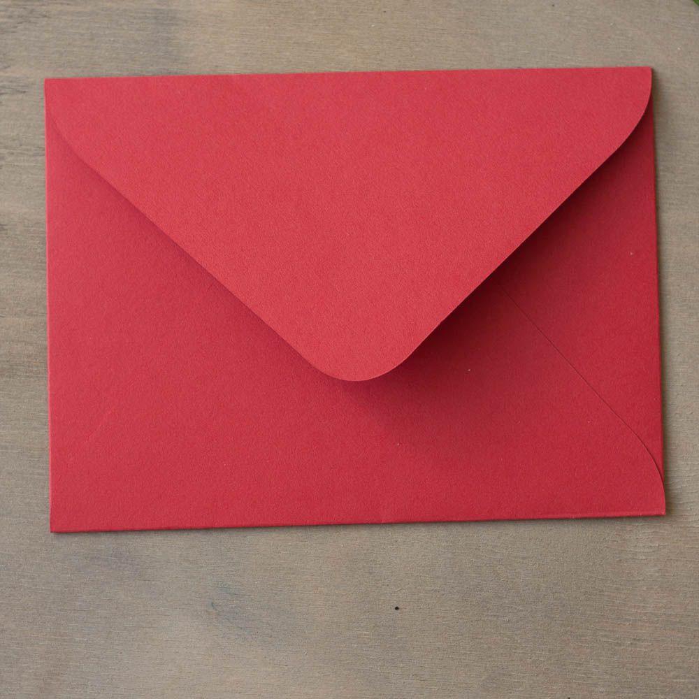 Конверт для приглашения, красный