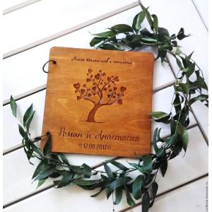 Книга пожеланий из дерева...