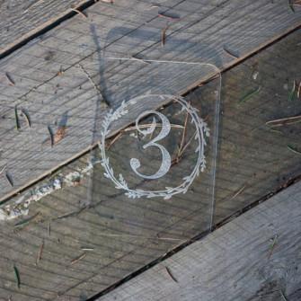 Номерок на стол в эко-стиле