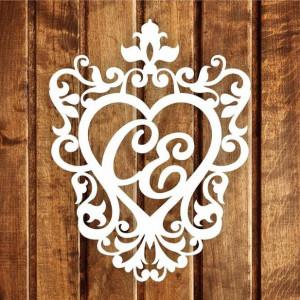 Свадебная монограмма из букв - Вариант 12
