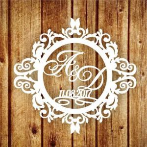 Свадебная монограмма из букв - Вариант 16