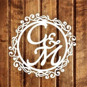 Свадебная монограмма из букв - Вариант 17