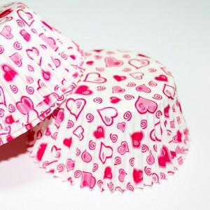 Формочки для капкейков - сердечки