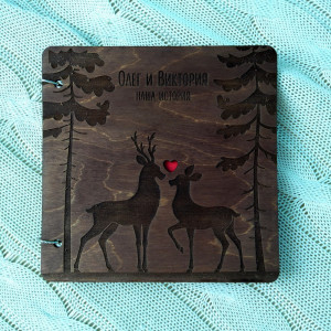 Лесная - Книга пожеланий из дерева на кольцах