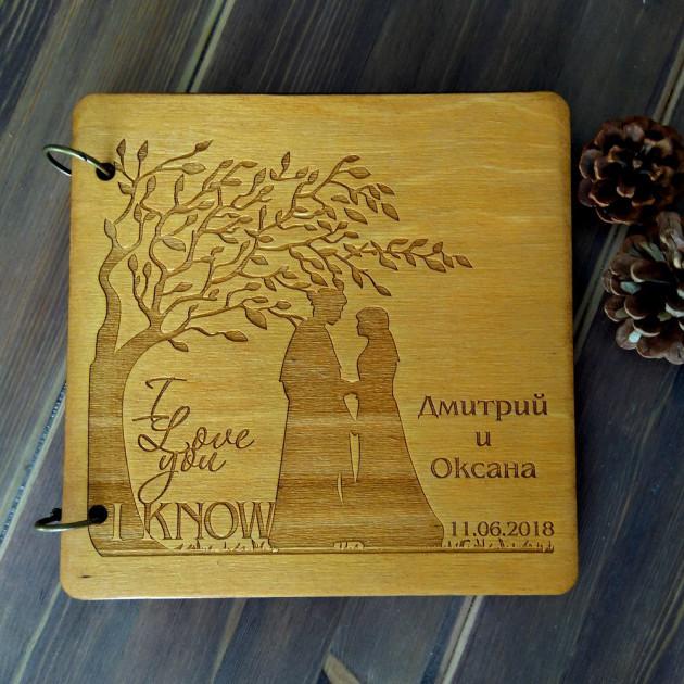 """Книга пожеланий из дерева """"Цветущее дерево"""""""