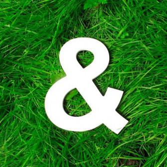 Буквы на свадьбу - Значок &