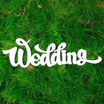 """Буквы на свадьбу - слово """"Wedding"""""""