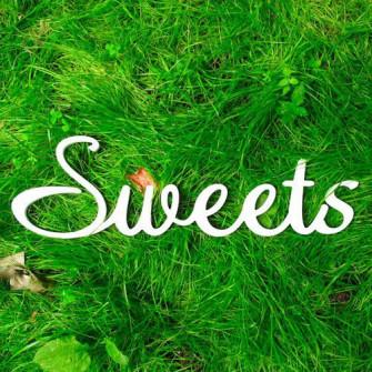 "Буквы на свадьбу - слово ""Sweets"""