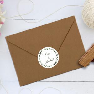 Наклейка на конверт венок