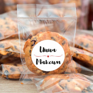 Наклейка на пакет с печеньем