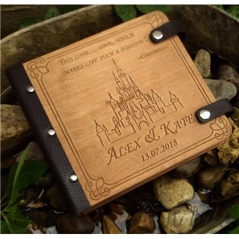 Сердце - Деревянный свадебный фотоальбом