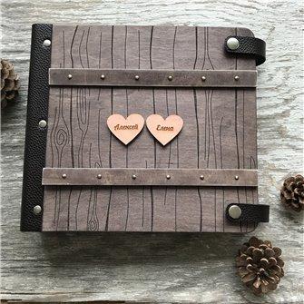 Семейная летопись - Деревянный свадебный фотоальбом