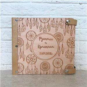 Ловцы снов  - Деревянный свадебный фотоальбом