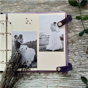 Ретро - Деревянный свадебный фотоальбом