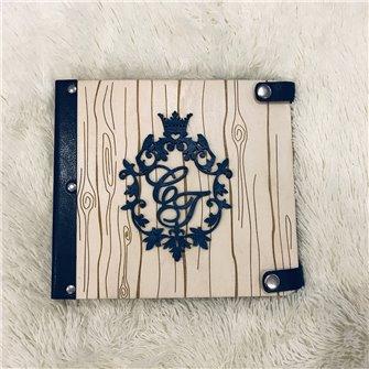Альбом с монограммой - Деревянный свадебный фотоальбом