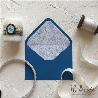 Конверт для приглашения, синий