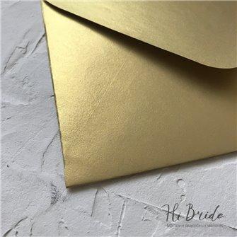 Конверт для приглашения, золотой