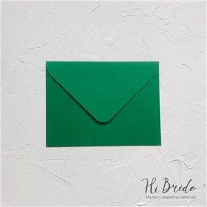 Конверт для приглашения, зелёный