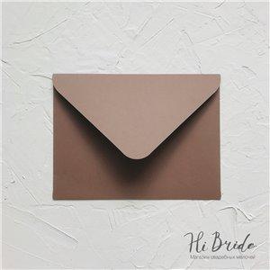 Конверт для приглашения, коричневый