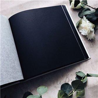 Альбом для фото белый и черный (черные страницы)