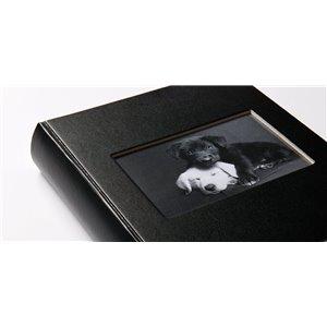 Альбом для вклеивания фото черный 30х30 см