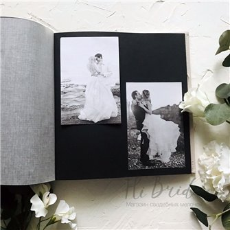 Альбом для фото белый (черные страницы)