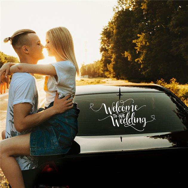 JustMarried - Свадебная наклейка на машину