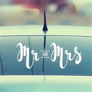 Mr & Mrs - Свадебная наклейка на машину