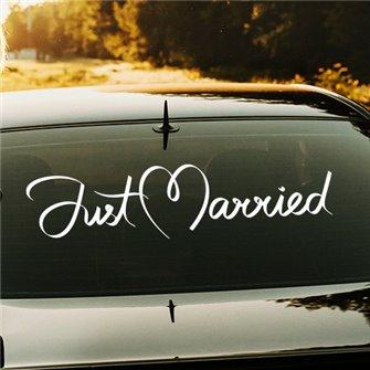 Just Married  - Свадебная наклейка на машину