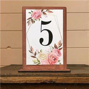 Розы - бумажный номерок на стол