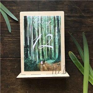 Лес - бумажный номерок на стол