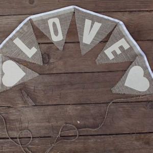 Гирлянда на свадьбу Love