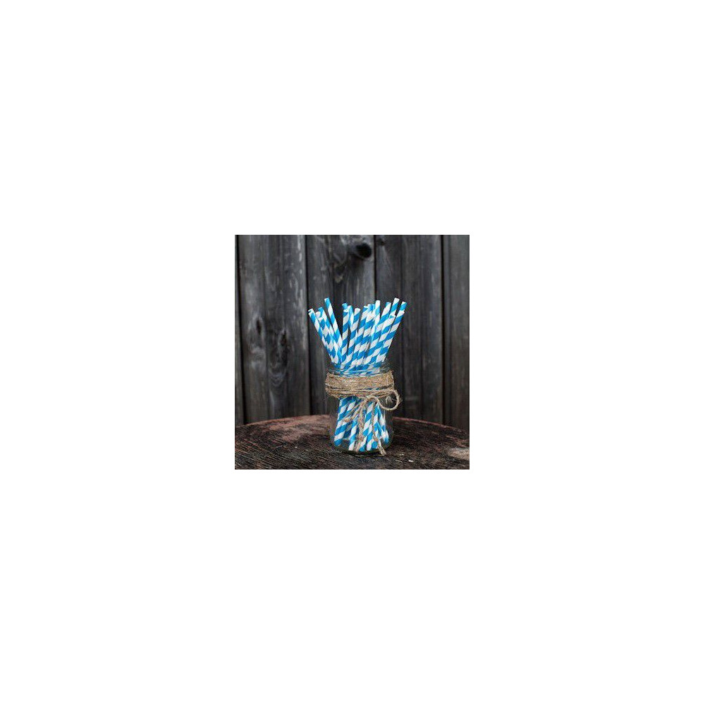 Трубочки для декора свадьбы (голубой цвет)