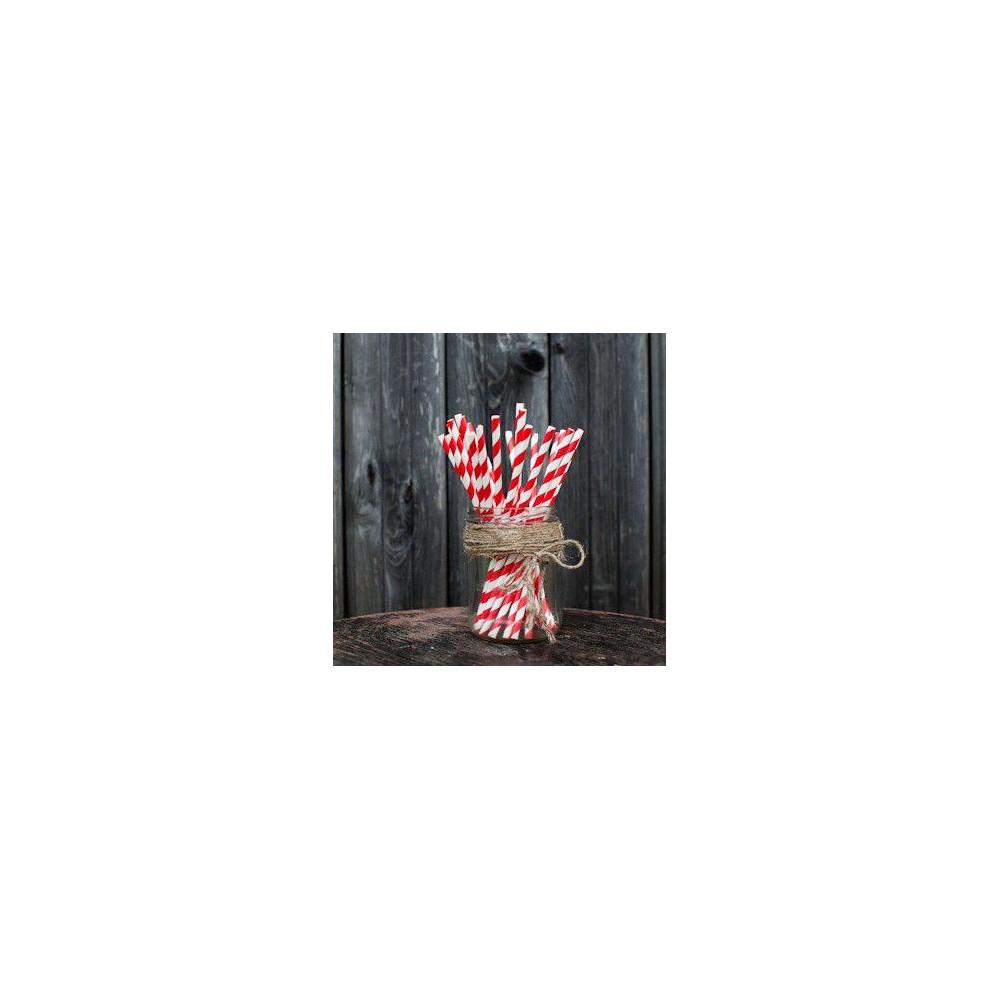 Трубочки для декора свадьбы (красный цвет)