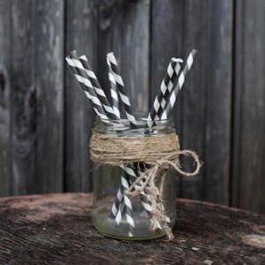 Трубочки для декора свадьбы (серый цвет)