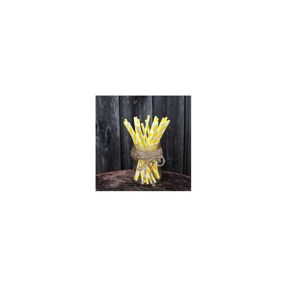 Трубочки для декора свадьбы (желтый цвет)