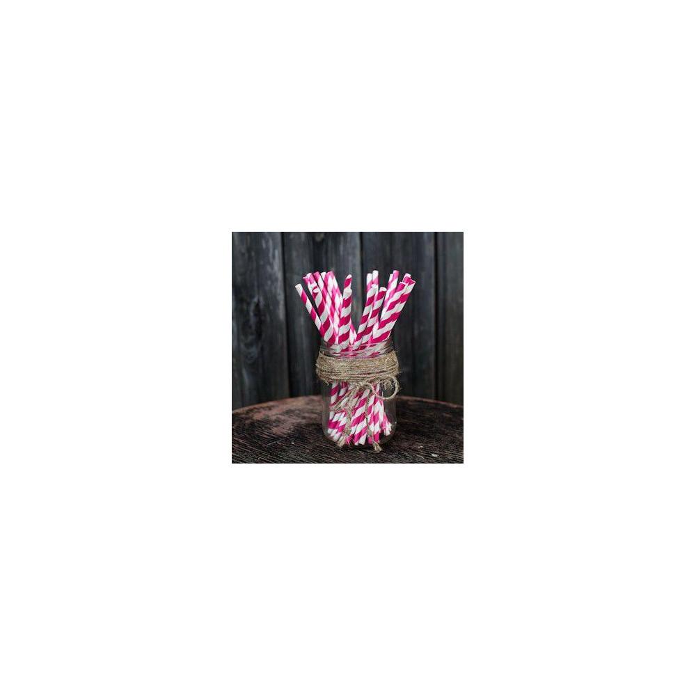 Трубочки для декора свадьбы (розовый цвет)