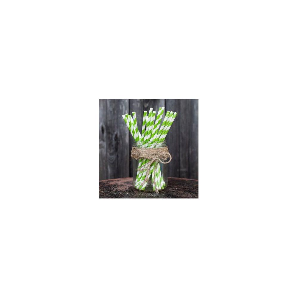 Трубочки для декора свадьбы (зеленый цвет)