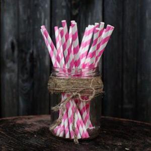 Трубочки для декора свадьбы (светло-розовый цвет)