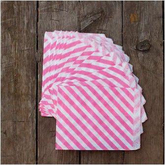 Большие бумажные пакетики (розовые)
