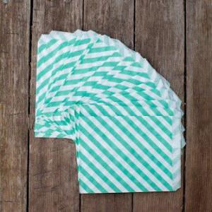 Большие бумажные пакетики (мятный цвет)