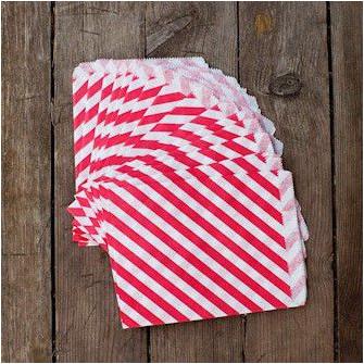 Большие бумажные пакетики (красные)