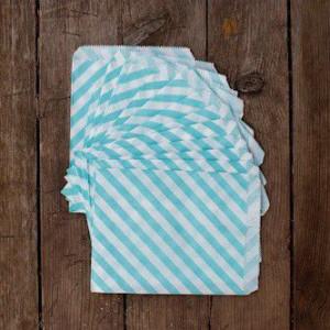Большие бумажные пакетики (голубые)