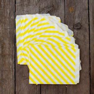 Большие бумажные пакетики (желтые)