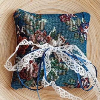Подушечка для колец с цветочным принтом (2 вида)